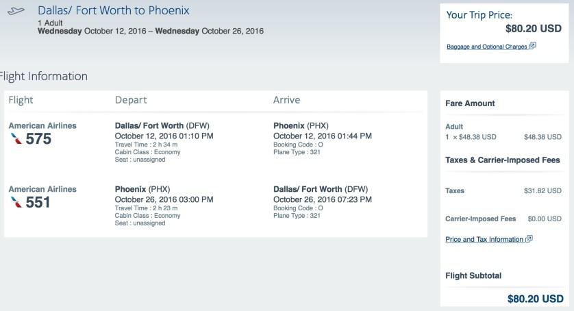 Dallas to Phoenix