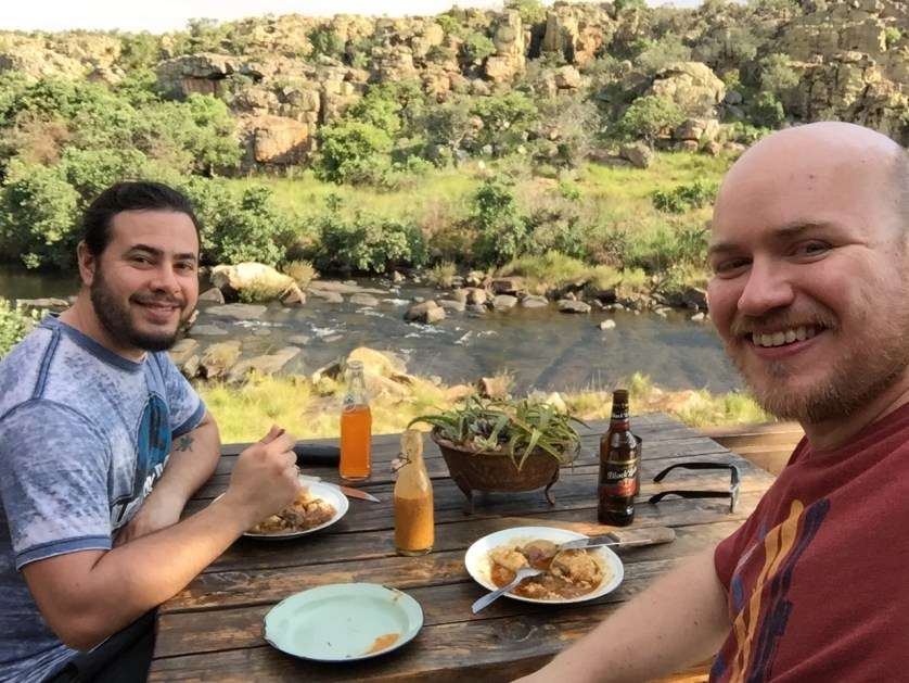 Enjoying a meal on the river, South Africa