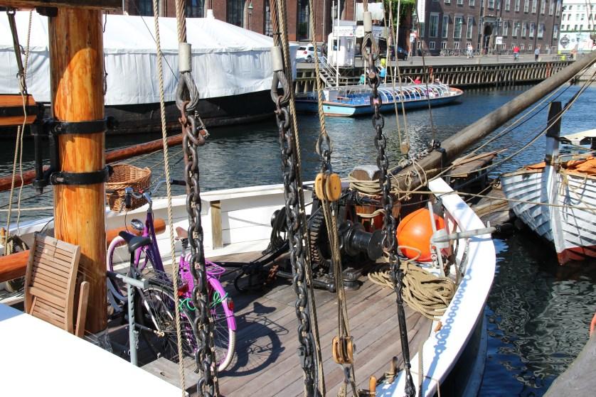 Boats in Copenhagen Canals