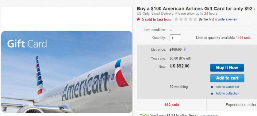American eBay sale