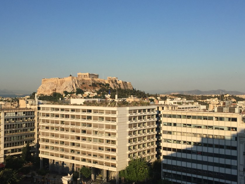 View from the King George Hotel Athens Greece