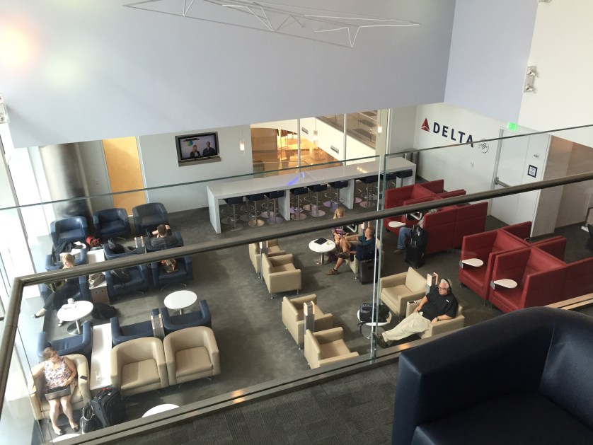 View from upper level of the Sky Club