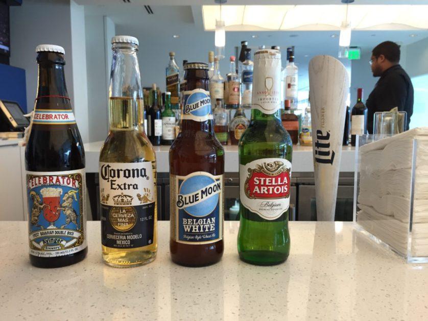 Beer selection ATL Sky Club
