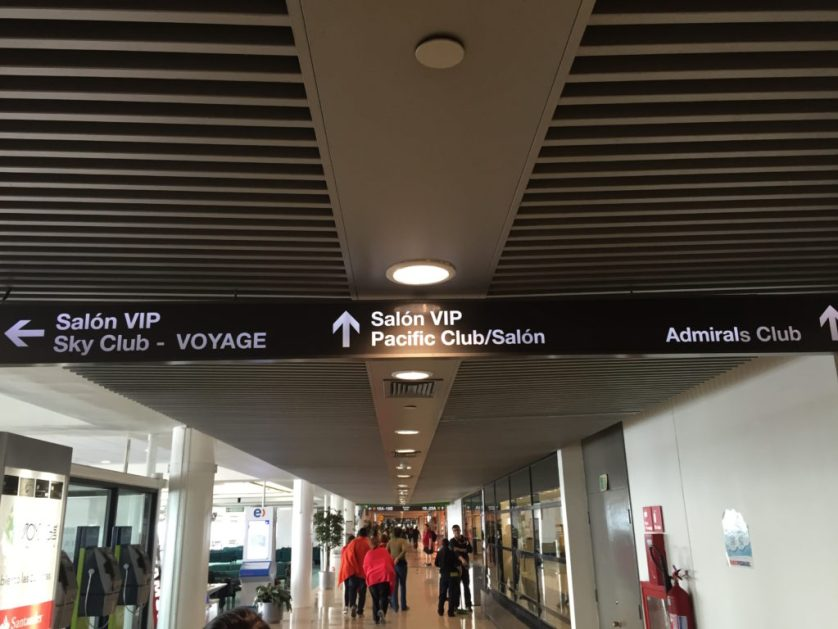 Santiago Entrance to Admiral's Club