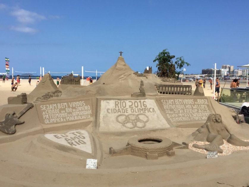 Copacabana sandcastles