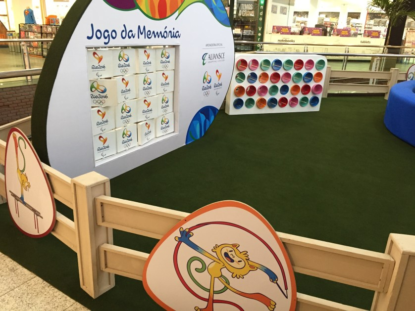 Kids play area in the mall with Olympic Theme