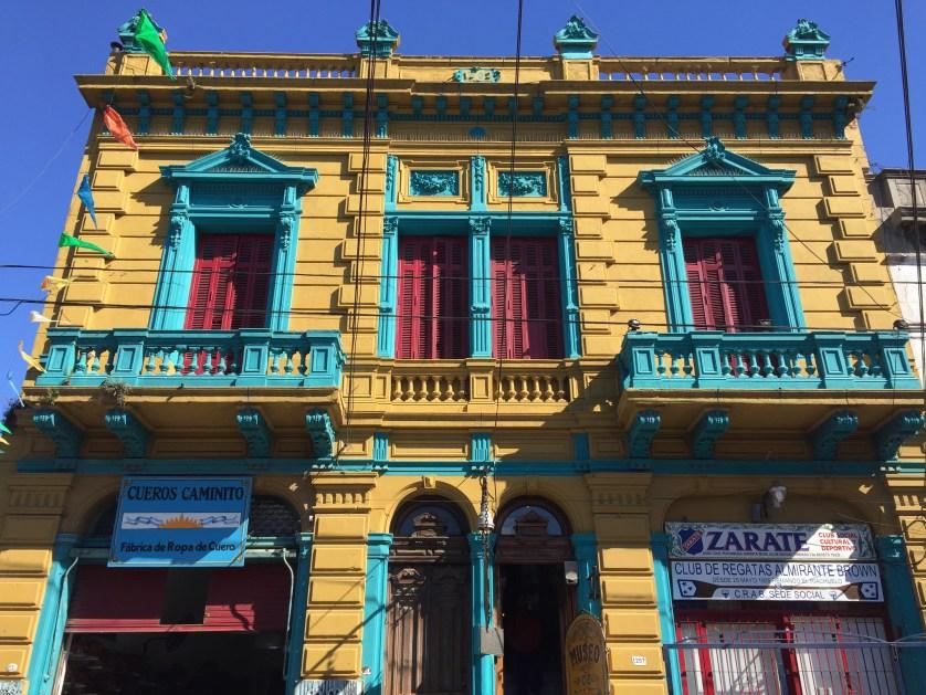Brightly colored facade