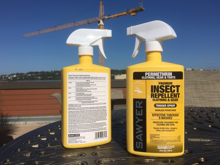 Sawyer Permethrin (ignore the construction crane)