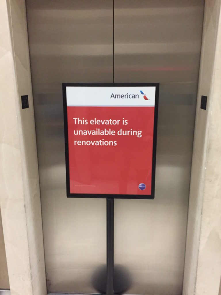 Nope, not this elevator