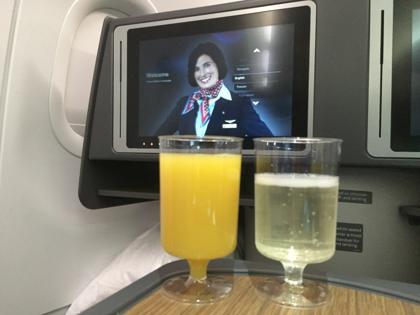 Welcome Drinks A321 American AIrlines