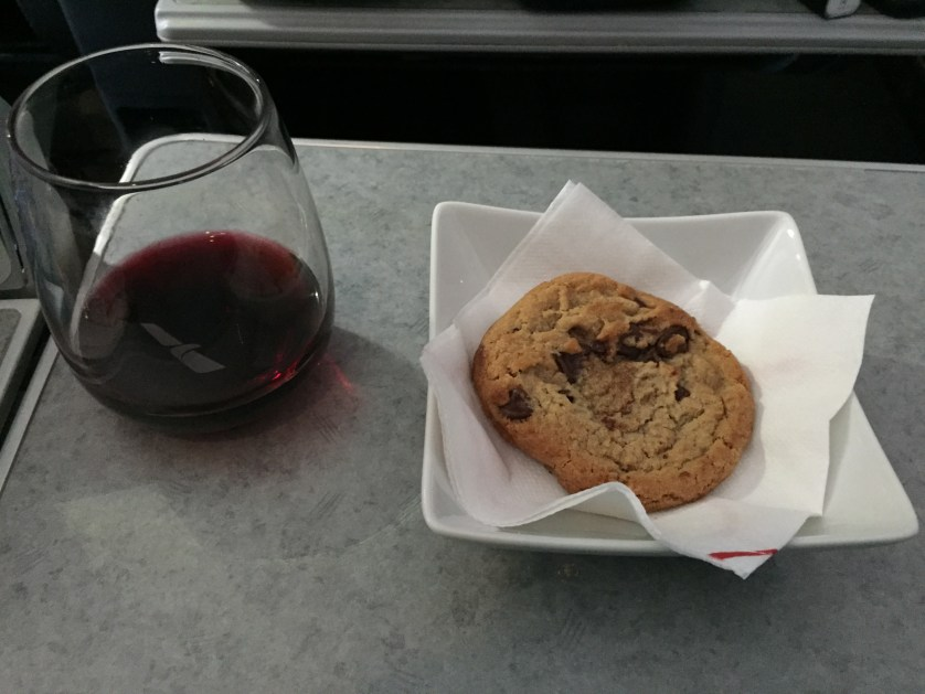 Cookie and red wine
