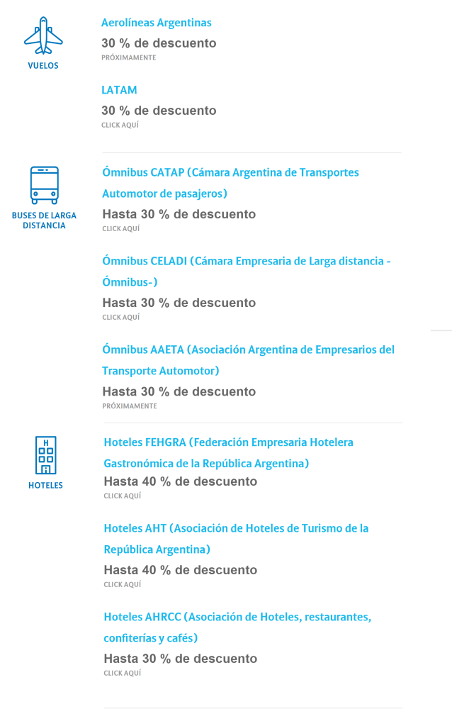Vivi Argentina Promo, Ministerio de Turismo
