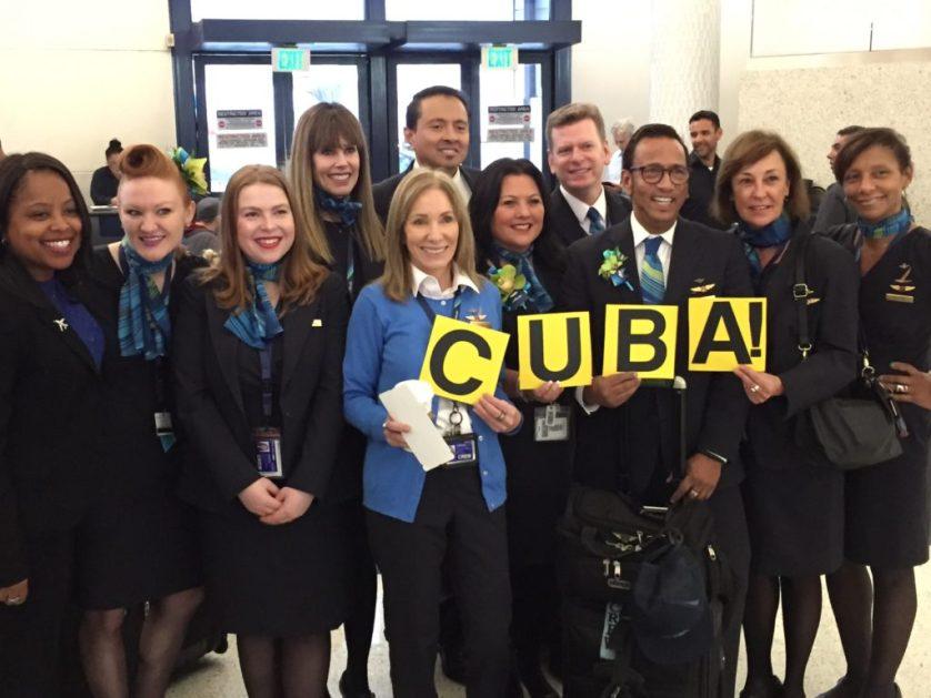 Alaska Airlines Inaugural Flight Crew