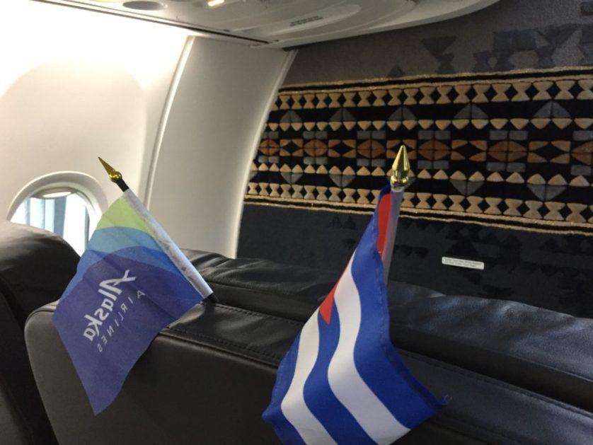 Alaska Airlines to Havana Inaugural flight Decorations
