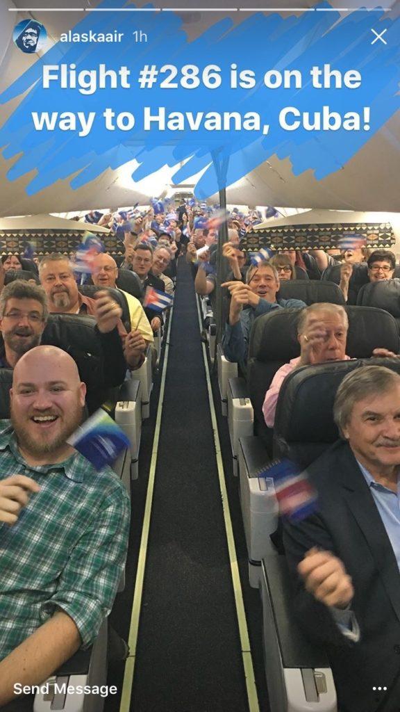 Alaska Airlines to Havana Inaugural Flight