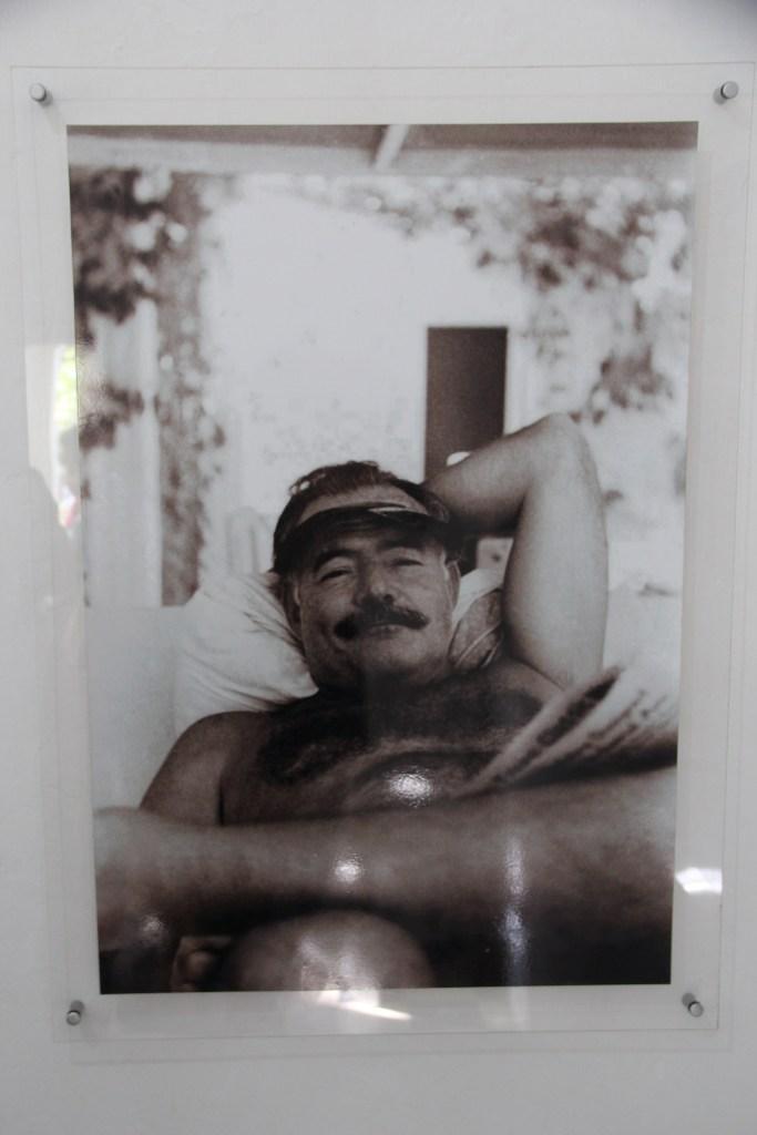 Ernest Hemingway Relaxing