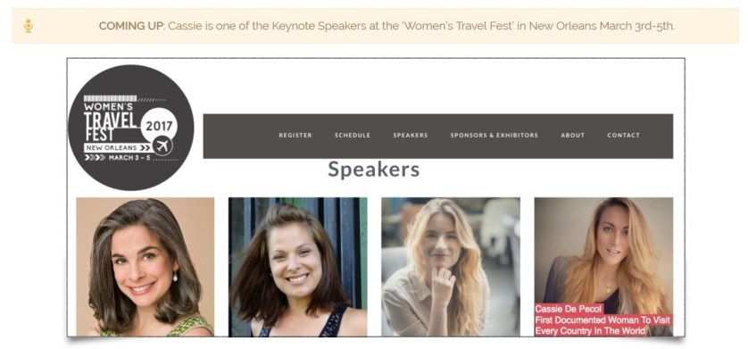 Womens Travel Fest Speakers