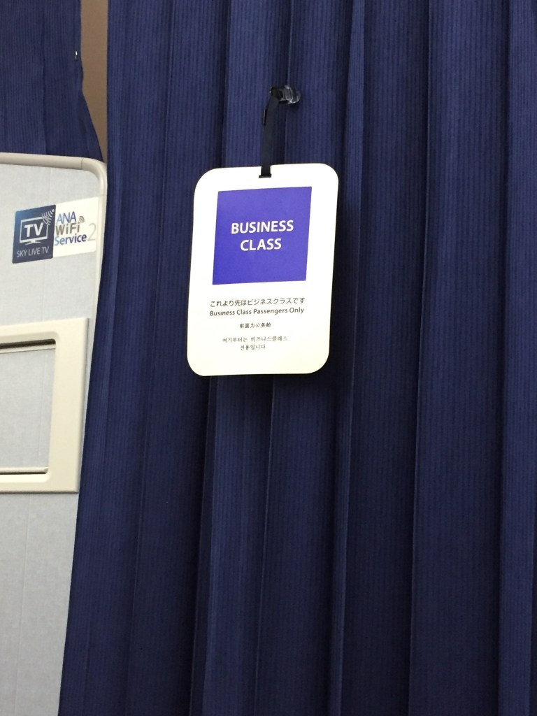 ANA Business Class Curtain