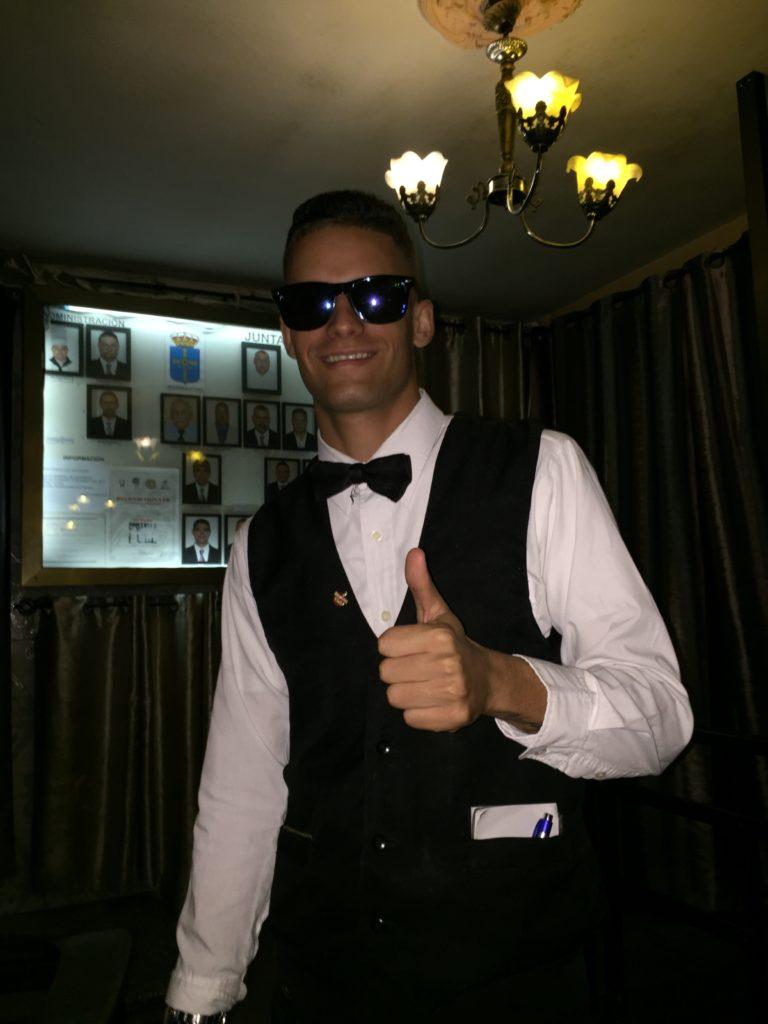 Havana Waiter at Restaurant