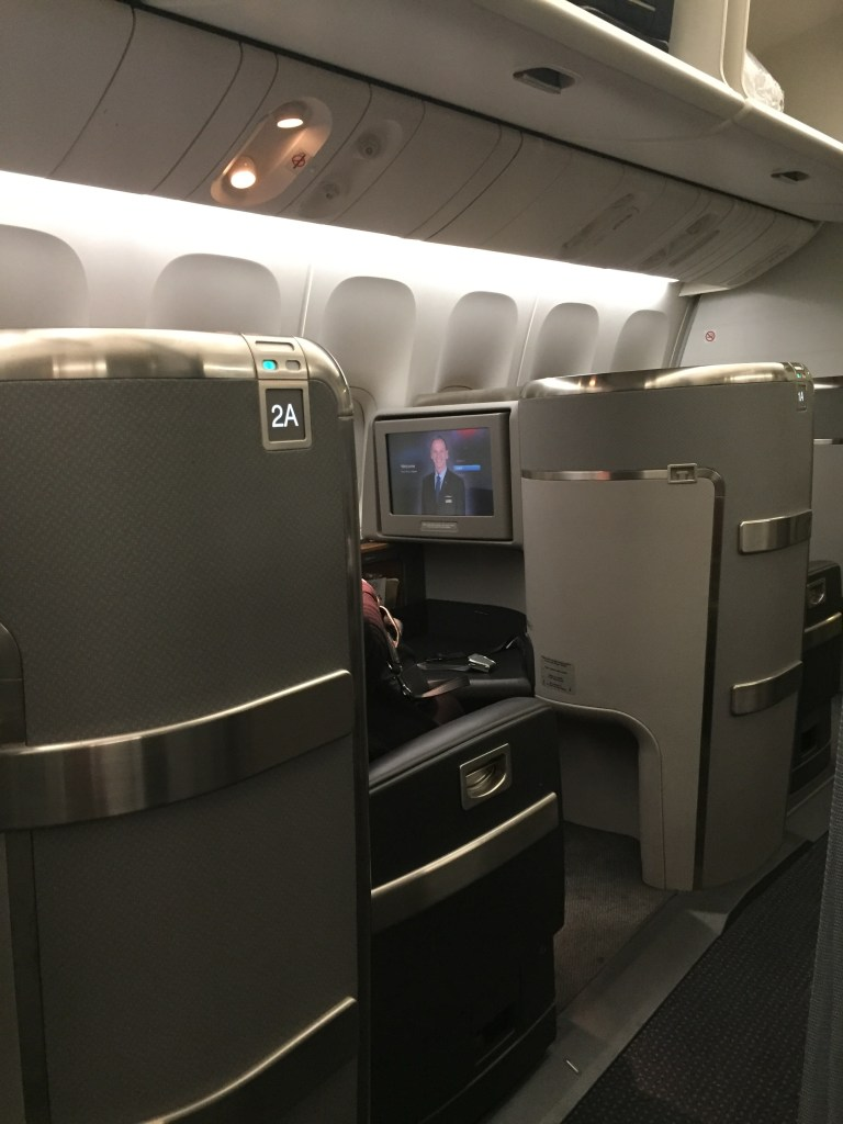 American Airlines 777 First Class Seat
