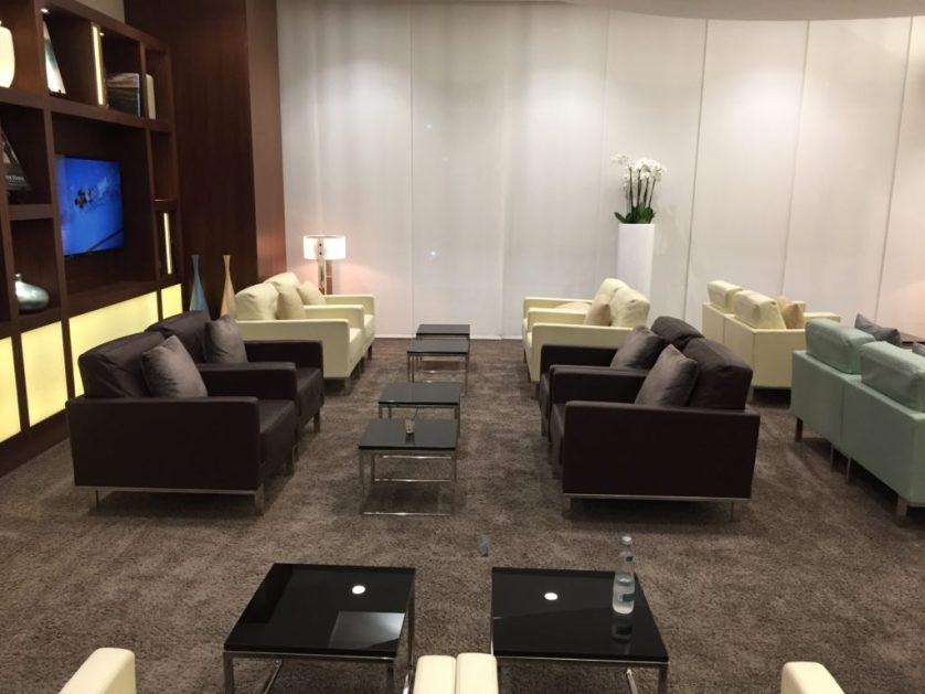 Etihad Arrivals Lounge Seating