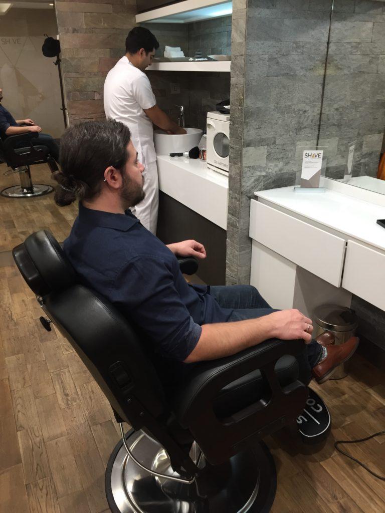 Etihad Arrivals Lounge Shave