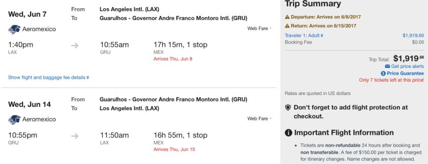 Sao Paolo Aeromexico Discount