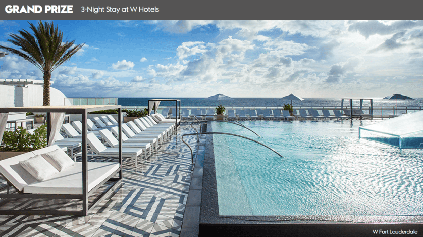 W Hotels Contest
