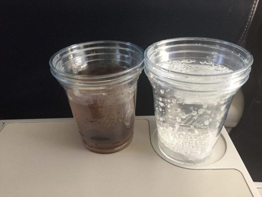 Alaska SkyWest First Class Drinks