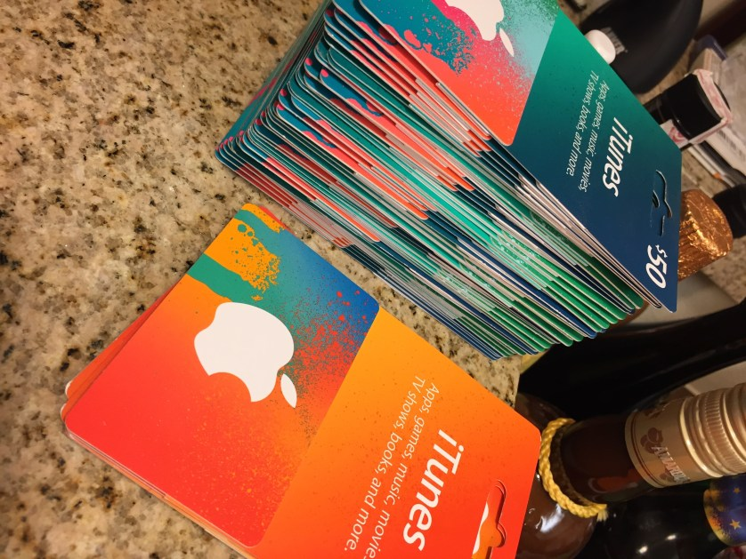 iTunes Gift Cards on Sale