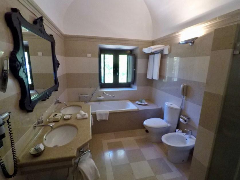 Bathroom of our Suite at the Convento do Espinheiro