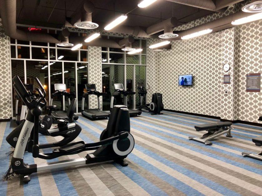 Gym at Aloft Seattle SeaTac Airport