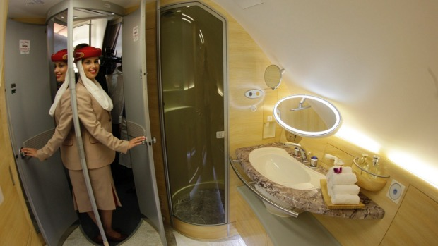 Emirates A380 Shower and Spa, courtesy of Emirates.com