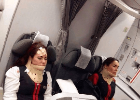 Turbulence in Avianca flight, from Twitter