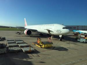 Virgin 777-300 in Brisbane