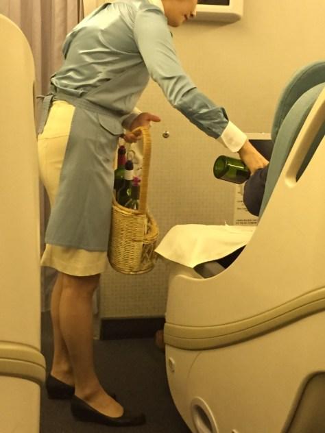Korean Air wine picnic basket