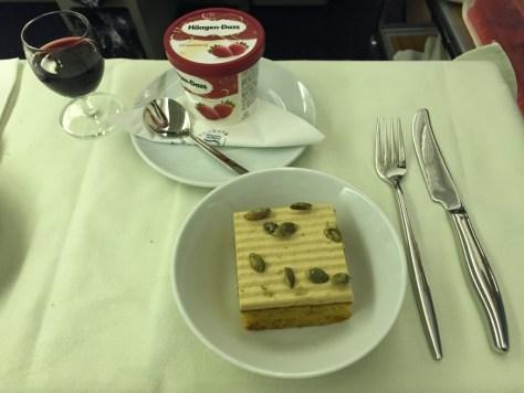 Korean Air dessert options
