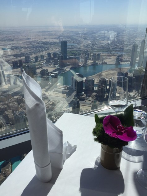 Even the napkin is like the Burj Khalifa