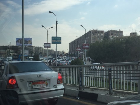 Traffic outside the Egyptian Museum
