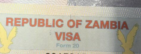 Zambia Visa, $50