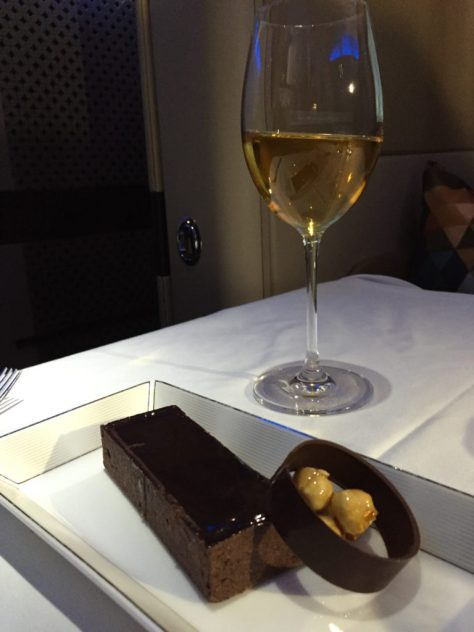 Chocolate Dessert and Wine
