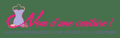 Nom d'une couture ! copyright logo couleur slogan