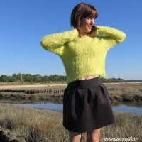 Tuto : réaliser une jupe en néoprène (plis plats)