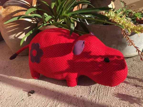 Nom d'une couture ! Un doudou hippo pour ma nièce