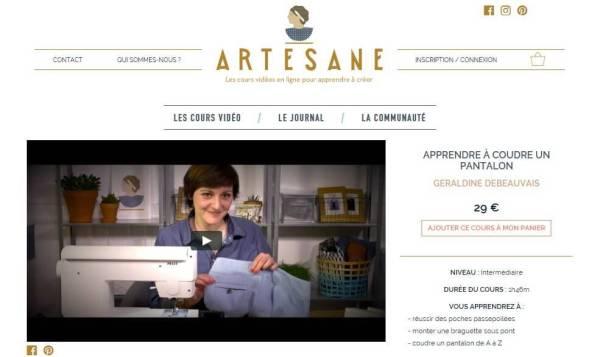 Nom d'une couture ! Cours en ligne Artesane
