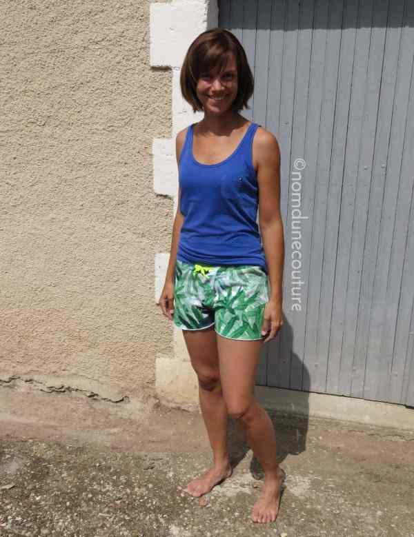short Anna en tissu éponge