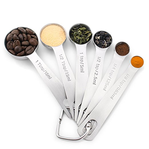 1Easylife 18:8 Stainless Steel Measuring Spoons