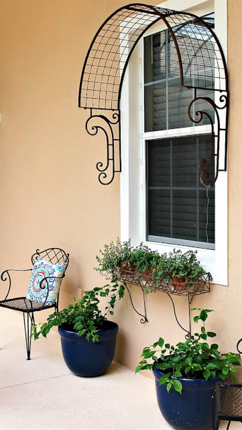window trellis, window arched trellis