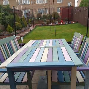 Create a Party-Colored Bench Set with Paint Samples