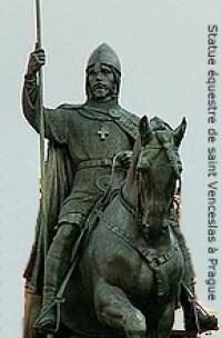 Statue équestre de saint Venceslas à Prague